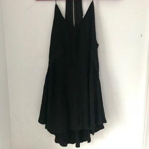 Black Tank Dress with Detailing